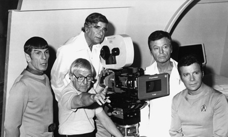 Leonard Nimoy, Robert Wise, Gene Roddenberry, DeForest Kelley, William Shatner