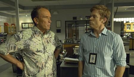 Peter Weller (Stan Liddy) i Michael C. Hall