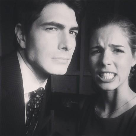 Brandon Routh, Emily Bett Rickards; Arrow